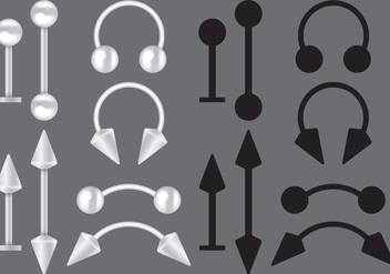Body Piercing Vectors - бесплатный vector #274693