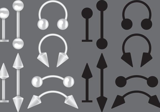 Body Piercing Vectors - Free vector #274693
