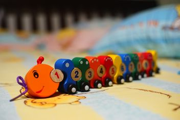 #Caterpillar #train, 1 to 10 Numbers, wooden toys. #mylastphoto?? - бесплатный image #274783