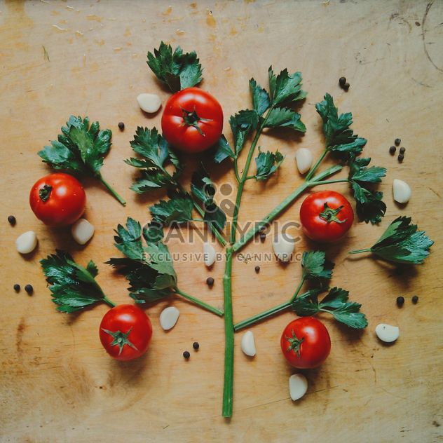 Tomatoes with garlic - Free image #274853