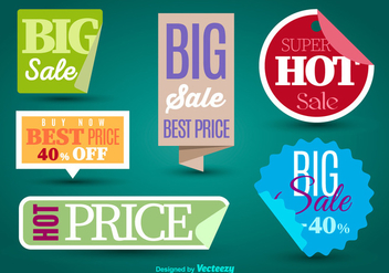 Sale labels - vector #275153 gratis
