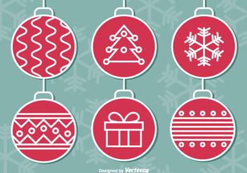 Hanging Christmas balls - vector gratuit #275293