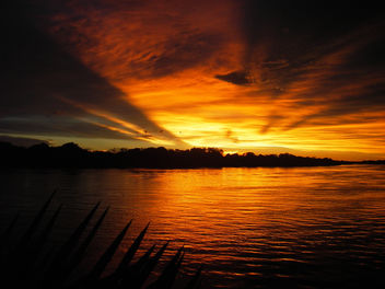 Orange Sunset on the Zambezi - image #276273 gratis