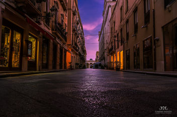 Sunrise at street in Trapani, Sicily (Italy) - Free image #291093