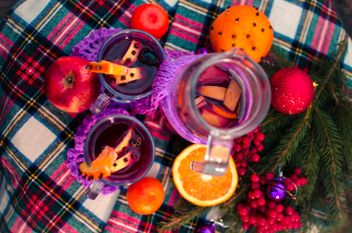 hot mulled wine in beautiful glasses - image gratuit(e) #297523