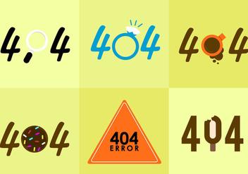 404 Error Vectors. - Free vector #297713