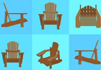 Adirondack Chair Beach - vector gratuit #297743