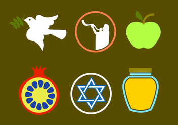 Rosh Hashanah Icon Vectors - бесплатный vector #297763