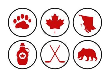 Canada Icons Vectors - Kostenloses vector #297853