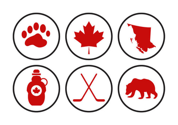 Canada Icons Vectors - Free vector #297853