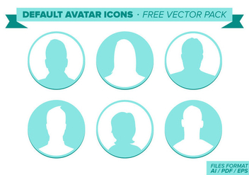 Default Avatar Free Vector Pack - Free vector #297913