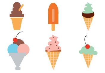 Ice Cream Vector Set - vector gratuit #298023
