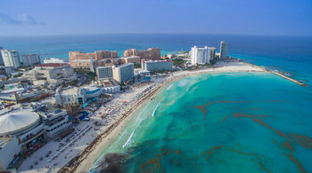 Cancun beach aerial - Luftbild - Free image #299343