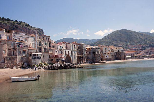 Beach of Cefalu, Sicily - Free image #301433