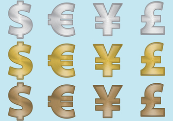 Aluminum Currency Symbols - vector gratuit #301483