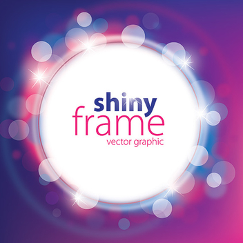 Shiny White Frame Colorful Background - vector gratuit #301543