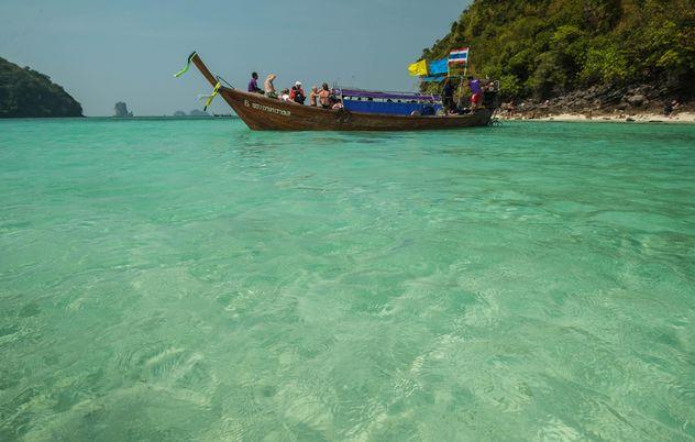 fishing boats moored on the coast - Free image #301683