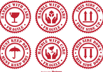 Handle With Care Badges - Free vector #301823