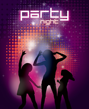 Party Night Poster Template - vector gratuit #301883