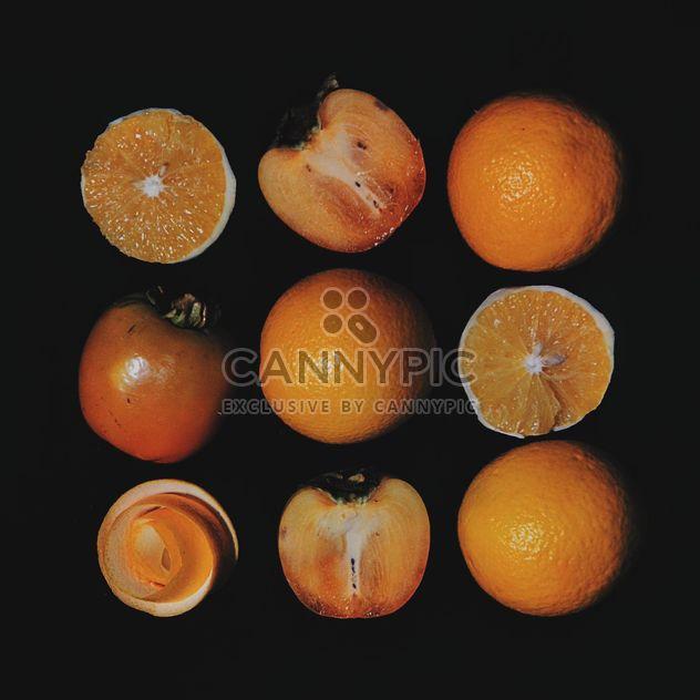 Caquis e fatias de laranja - Free image #301963
