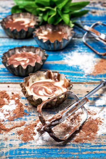 Process of making coffee cupcakes - image gratuit(e) #302103