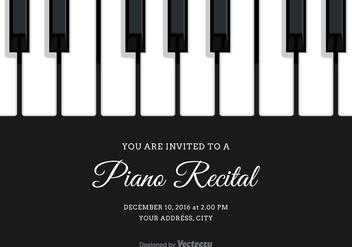 Free Vector Piano Recital Invitation - Kostenloses vector #302113