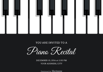 Free Vector Piano Recital Invitation - Free vector #302113