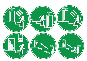 Emergency Exit Vectors - Free vector #302143
