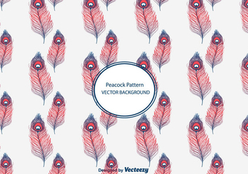 Peacock Pattern Vector - Free vector #302173