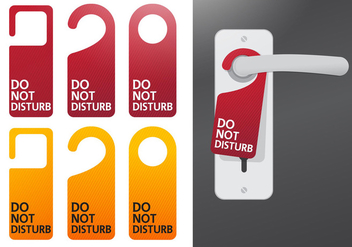 Do Not Disturb Vectors - vector gratuit #302233