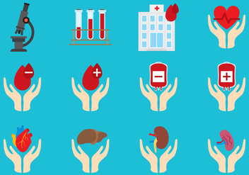Blood And Organs Donated - Free vector #302443