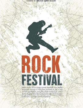 Rock Festival poster tempalte - Free vector #302473