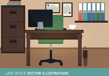 Law Office Vector Illustration - Free vector #302593