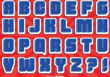 Comic Style Alphabet Set - Free vector #302643
