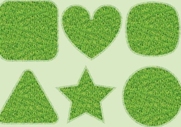 Grass Shapes - vector gratuit #302663