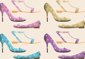 Glitter Shoes - Free vector #302683