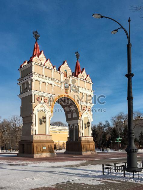 Триумфальная арка в Благовещенске - бесплатный image #302803
