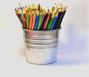 Colorful Pencils in pail - image gratuit #302823