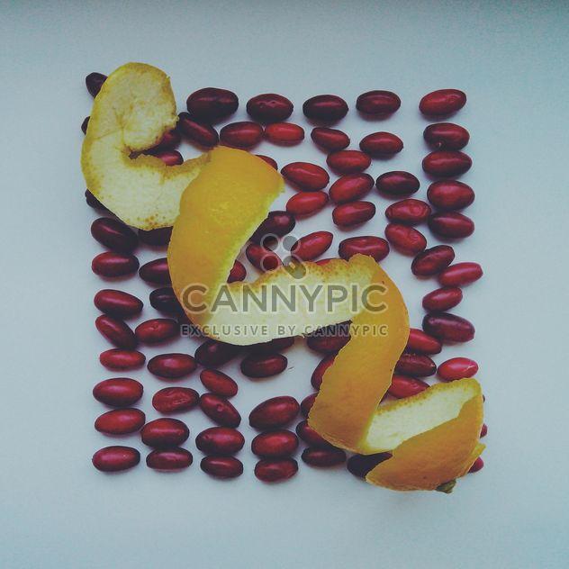 Lemon peel and dogwood berries - Free image #302893