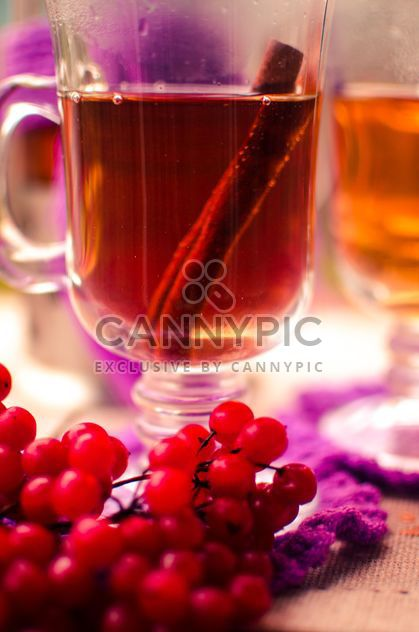 warm tea outdoor with vibrunum - Free image #302923