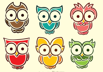 Cartoon Owl Vectors - Kostenloses vector #303003