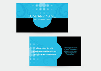 Beautiful business card design - Free vector #303123