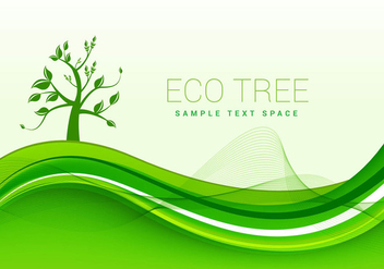 Eco green background vector - vector gratuit #303133