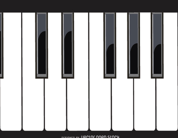 Piano keys - Free vector #303173