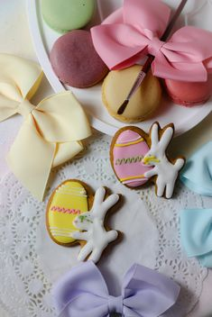 Cookies decorated with ribbons - image gratuit #303253