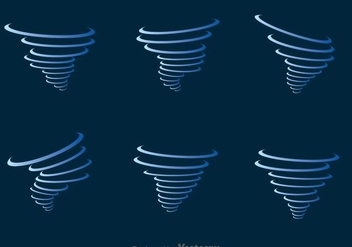 Blue Tornado Icons Set - vector gratuit #303373