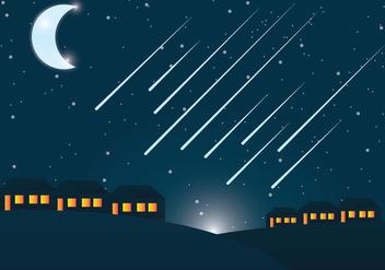 Meteor Shower Vector - Kostenloses vector #303473
