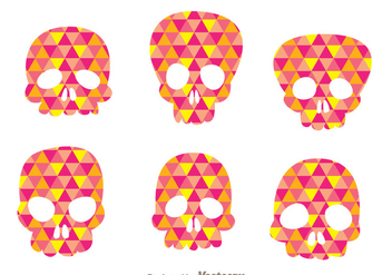 Colorful Vector Skull Silhouettes - Free vector #303563
