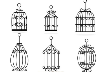 Decorative Bird Cage Vectors - бесплатный vector #303593