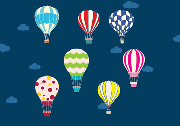 Air balloon in the sky vector - бесплатный vector #303633